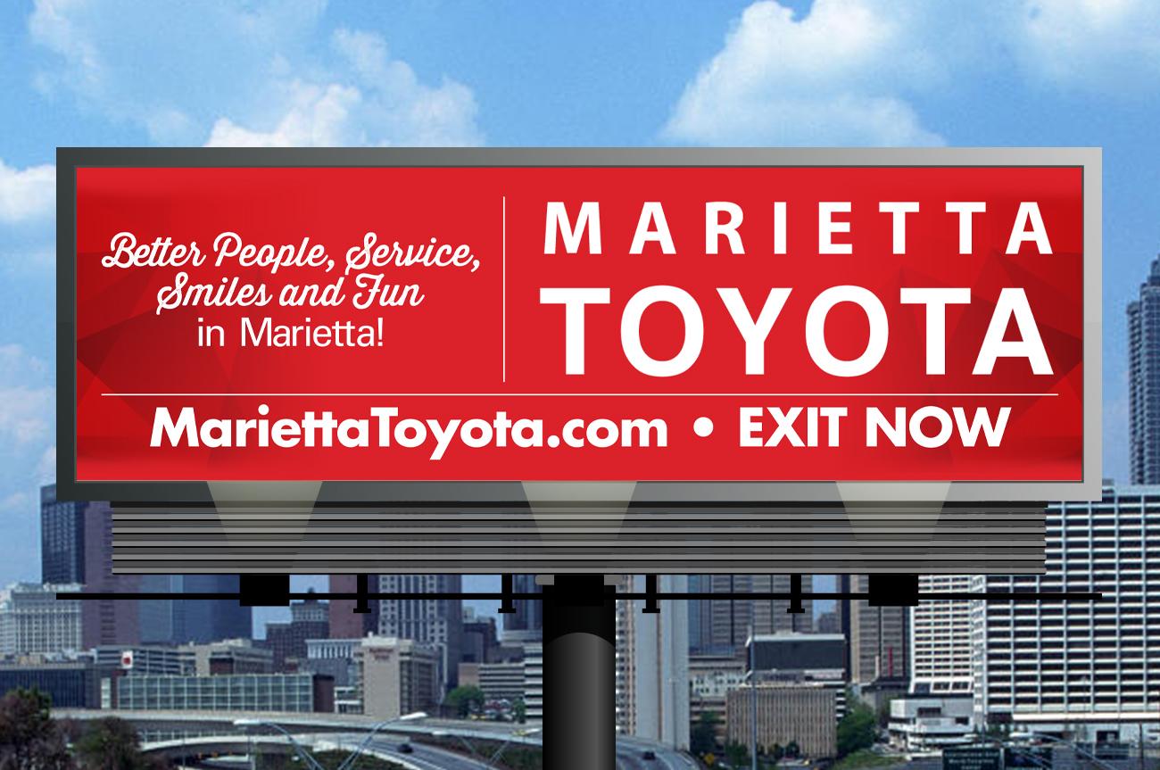 Marietta Toyota Service >> Marietta Toyota Billboard Better People Service Smiles